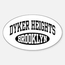 Dyker Heights Brooklyn Sticker (Oval)