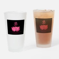 Pink Lotus Sutra Drinking Glass