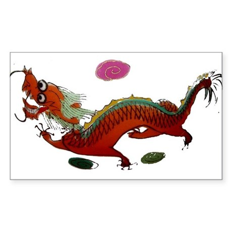 Chinese Dragon II Sticker (Rectangle)