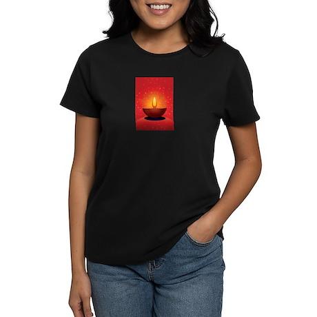 Diwali Festival of Lights Women's Dark T-Shirt