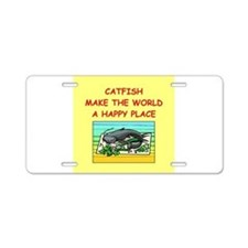 catfish Aluminum License Plate