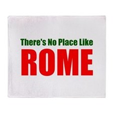No Place Like Rome (red) Throw Blanket