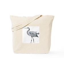 Cute Blue heron Tote Bag