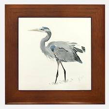 Cute Heron Framed Tile