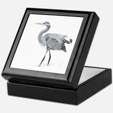 Cute Heron Keepsake Box