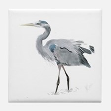 Cute Great blue heron Tile Coaster