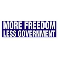 More Freedom Less Government Bumper Sticker