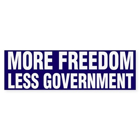 More Freedom Less Government Sticker (Bumper)