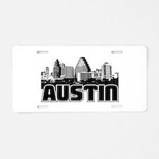 Austin Skyline Aluminum License Plate