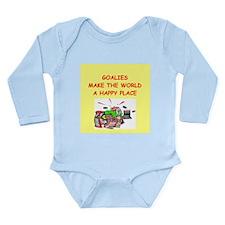 goalies Long Sleeve Infant Bodysuit