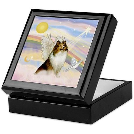 Sable Sheltie Angel Keepsake Box
