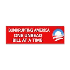 Bankrupting America... Car Magnet 10 x 3
