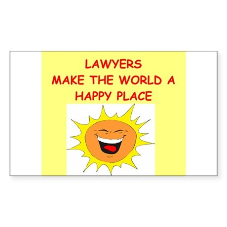 attorney and lawyers Sticker (Rectangle)