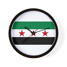 pre-1963 Flag of Syria Wall Clock
