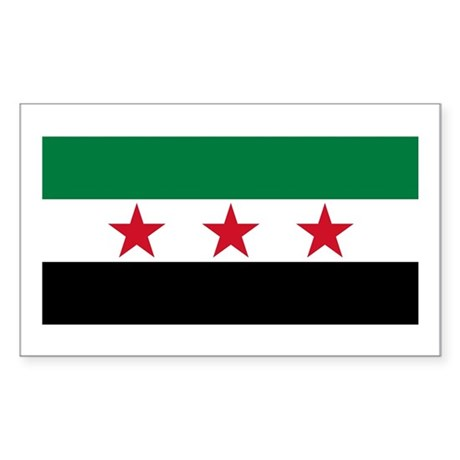 pre-1963 Flag of Syria Sticker (Rectangle)