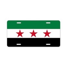 pre-1963 Flag of Syria Aluminum License Plate