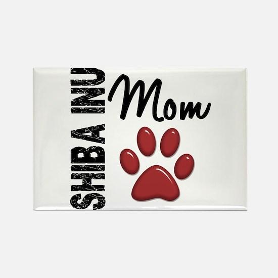 Shiba Inu Mom 2 Rectangle Magnet