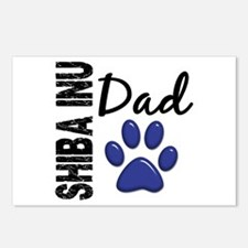 Shiba Inu Dad 2 Postcards (Package of 8)
