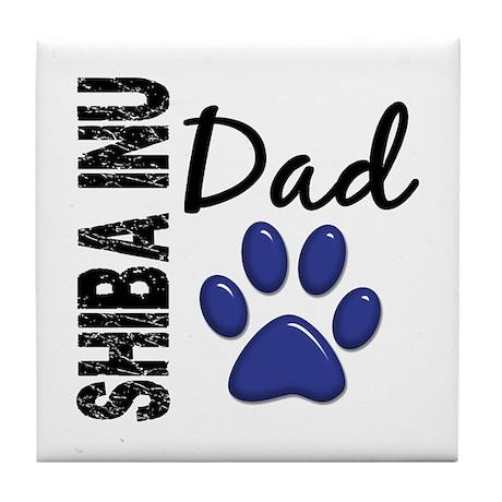 Shiba Inu Dad 2 Tile Coaster