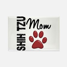 Shih Tzu Mom 2 Rectangle Magnet
