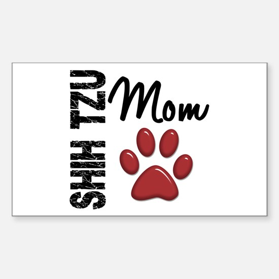 Shih Tzu Mom 2 Sticker (Rectangle)