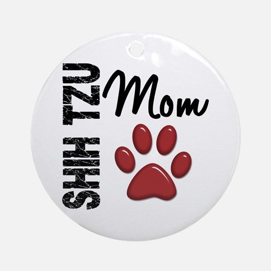 Shih Tzu Mom 2 Ornament (Round)