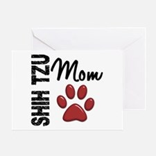 Shih Tzu Mom 2 Greeting Card