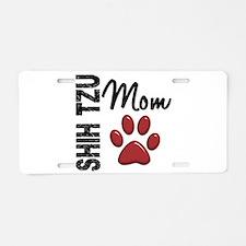 Shih Tzu Mom 2 Aluminum License Plate