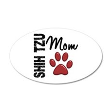 Shih Tzu Mom 2 22x14 Oval Wall Peel