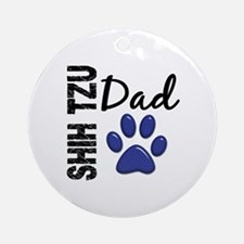Shih Tzu Dad 2 Ornament (Round)