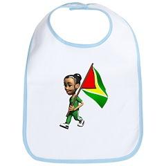 Cute 3D Guyana Flag Bib