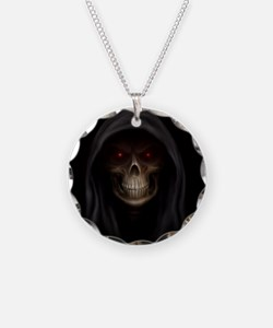 Grim Reaper, Necklace Circle Charm