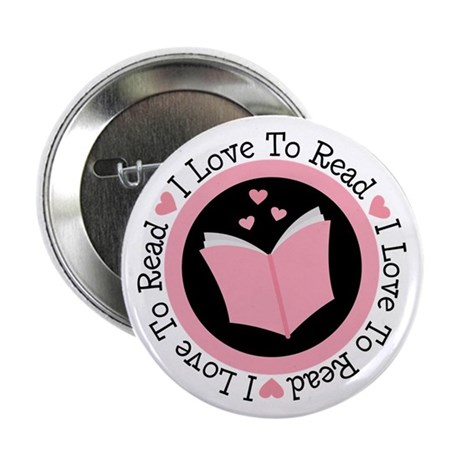 """I Love To Read Books 2.25"""" Button (10 pack)"""