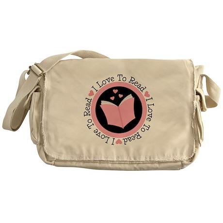 I Love To Read Books Messenger Bag