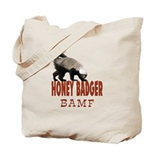 Honey Badger BAMF Tote Bag