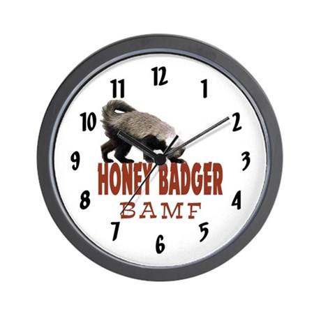 Honey Badger BAMF Wall Clock