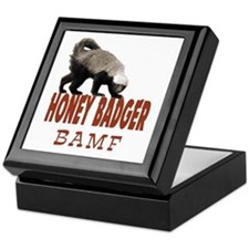 Honey Badger BAMF Keepsake Box