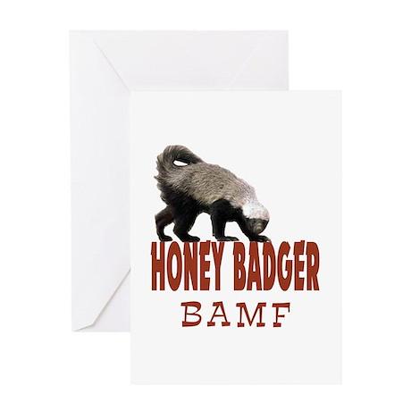 Honey Badger BAMF Greeting Card