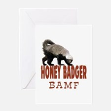 Honey Badger BAMF Greeting Card