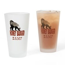 Honey Badger BAMF Drinking Glass