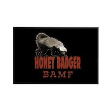 Honey Badger BAMF Rectangle Magnet