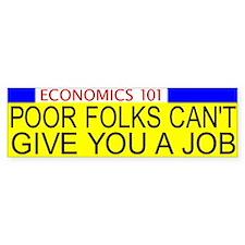 Economics 101 Bumper Bumper Bumper Sticker