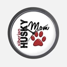 Siberian Husky Mom 2 Wall Clock