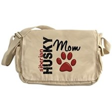 Siberian Husky Mom 2 Messenger Bag