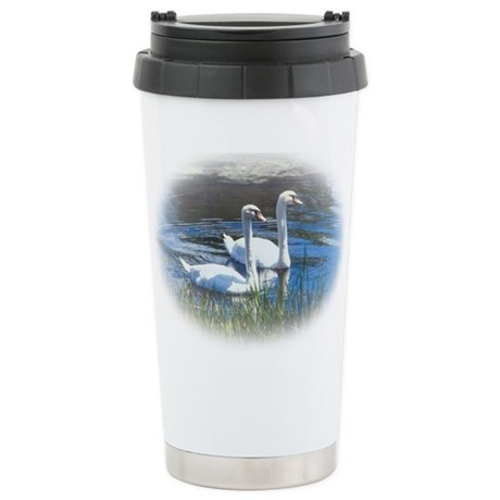 swans Stainless Steel Travel Mug