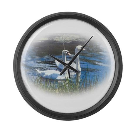 swans Large Wall Clock