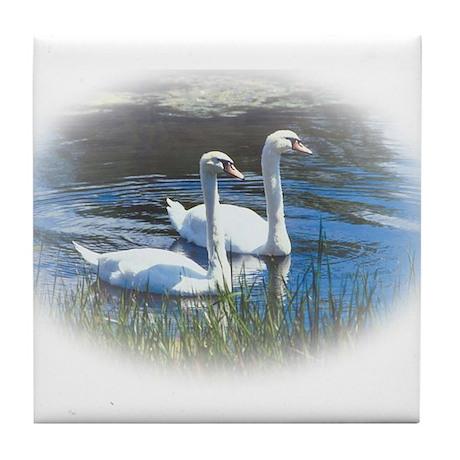 swans Tile Coaster