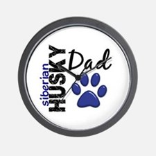 Siberian Husky Dad 2 Wall Clock