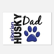 Siberian Husky Dad 2 Postcards (Package of 8)