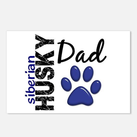 Siberian Husky Dad 2 Postcards (Package of 8)